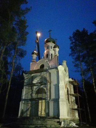 """На часовне в честь иконы Божией Матери """"Утоли моя печали"""" установили купола с крестами"""